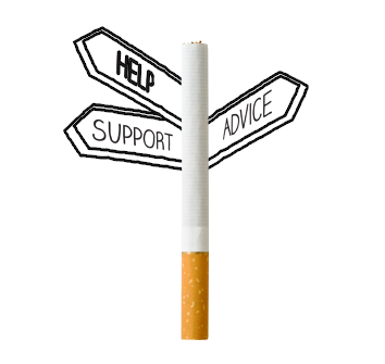 cigarette and sign post