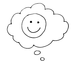 Cloud and smiling face