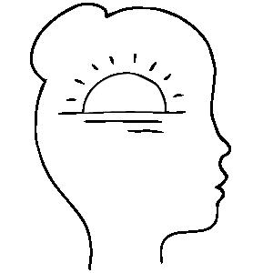 Female, shining sun