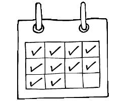Calendar, drink free days