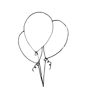 3 balloons illustration