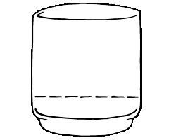 Empty glass illustration